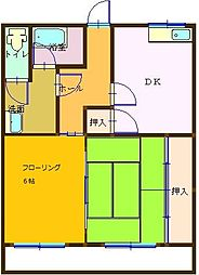 小川マンション[102号室]の間取り