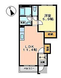 コンフォート・モナ[203号室]の間取り