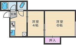 BAU阿倍野[2階]の間取り