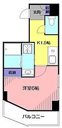 東京都小平市美園町1丁目の賃貸マンションの間取り
