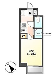 NS ZEAL東別院[5階]の間取り