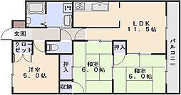川成431[202号室]の間取り