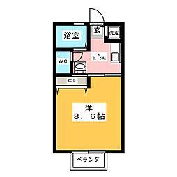オトベハイツ[2階]の間取り