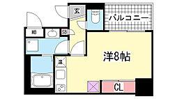 アスヴェル神戸元町Ⅱ[14階]の間取り