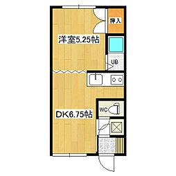 コーポ中村[2-2号室]の間取り
