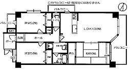 ヴェルデサコート桜ヶ丘 - Aタイプ[2階]の間取り
