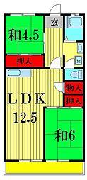 渡辺マンション[4階]の間取り