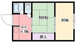 マンション武庫川[3階]の間取り
