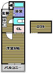 プレステージフジ狭山壱番館[1階]の間取り