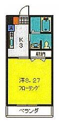 相鉄本線 瀬谷駅 徒歩5分の賃貸アパート 2階1Kの間取り