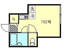 東京都江戸川区中葛西5丁目の賃貸アパートの間取り