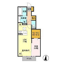 リアンデュール /[1階]の間取り
