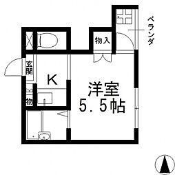 くろ〜ば菱江[202号室号室]の間取り