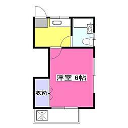 東京都東村山市萩山町5丁目の賃貸アパートの間取り