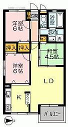 YNT第1マンション[204号室]の間取り