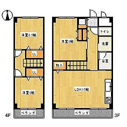 NEXT[3B号室]の間取り