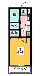ベルビュー六会[3階]の間取り