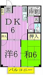 埼玉県八潮市八潮1の賃貸アパートの間取り