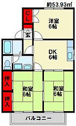 ウイング赤坂[201号室]の間取り