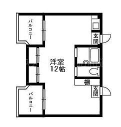 ビバリーハウス南福岡7A[4階]の間取り