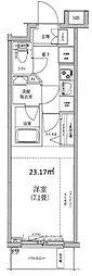 神奈川県横浜市神奈川区栄町の賃貸マンションの間取り
