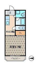 サクセスY[203号室]の間取り