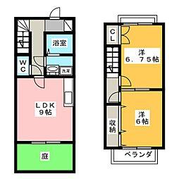 [テラスハウス] 静岡県浜松市東区有玉台3丁目 の賃貸【静岡県 / 浜松市東区】の間取り