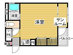 エム・ユー1[4階]の間取り