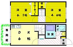 [テラスハウス] 福岡県福岡市東区和白東2丁目 の賃貸【/】の間取り