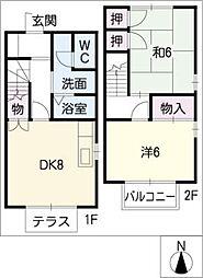 ハビテーションNK[1階]の間取り