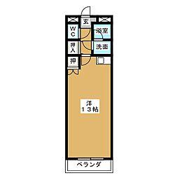 Annex Asai[3階]の間取り