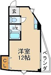 大阪府交野市星田5丁目の賃貸マンションの間取り