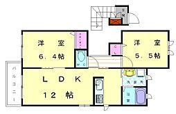 ルミエールパル新宮C[2階]の間取り