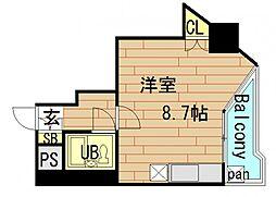 メゾン阿波座[2階]の間取り