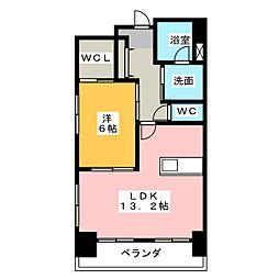 TRIBUTE元浜[4階]の間取り