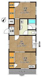 神奈川県川崎市多摩区菅稲田堤2丁目の賃貸マンションの間取り