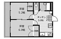 フラット福寿[3階]の間取り