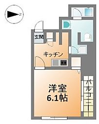 フォレステージュ北堀江[3階]の間取り