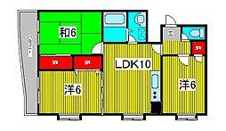 第五メゾン小泉芝新町[6階]の間取り