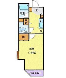JR山手線 新橋駅 徒歩4分の賃貸マンション 2階1Kの間取り