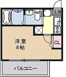 ハスラーKM[403号室号室]の間取り