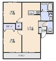 レトアハイム[2階]の間取り