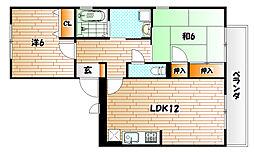 グレイス・イナミツB棟[3階]の間取り