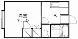 新潟県新潟市中央区米山6丁目の賃貸アパートの間取り