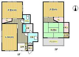 [一戸建] 大阪府箕面市桜4丁目 の賃貸【/】の間取り