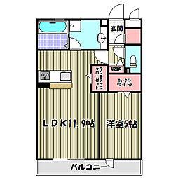 ロイヤルガーデン三国ヶ丘 弐番館[3階]の間取り