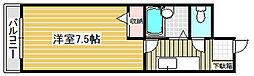 カナン花園[4階]の間取り