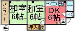 ハイツ鈴孝[307号室]の間取り