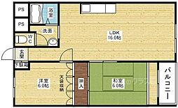 マンションサルナート[2階]の間取り