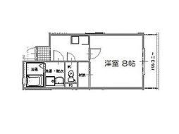 ジェンティール松原[305号号室]の間取り